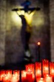 A igreja candles christ Imagens de Stock Royalty Free
