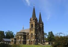 Igreja Católica 1. Dneprodzerzhinsk, Ucrânia. imagens de stock