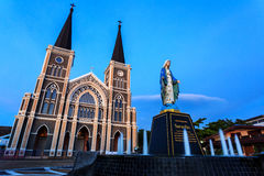 A igreja Católica Chanthaburi Fotos de Stock Royalty Free