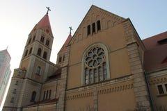 Igreja Católica de Qingdao imagens de stock
