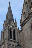 Igreja Católica de St Ludmila no quadrado da paz em Praga Fotografia de Stock Royalty Free