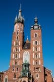 A igreja Católica de St Mary em Krakow, Polônia Fotografia de Stock