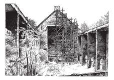 Igreja Católica de tiragem das ruínas Foto de Stock