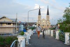 a igreja Católica em Tailândia fotografia de stock