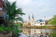 a igreja Católica em Tailândia imagens de stock royalty free