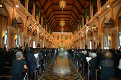 Igreja católica em Tailândia Fotos de Stock