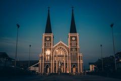 Igreja católica em Tailândia Imagens de Stock