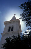 Igreja católica em Tunísia Fotografia de Stock Royalty Free