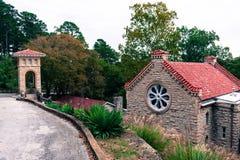 Igreja Católica histórica em Eureka Springs, Arkansas imagens de stock royalty free