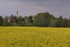 Igreja Católica Leutersdorf Foto de Stock Royalty Free