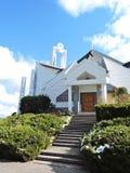 Igreja Católica moderna branca, Lituânia Fotografia de Stock Royalty Free