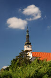 Igreja católica no mesto nad Vahom de Nove da cidade foto de stock