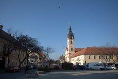 Igreja católica romana, Sombor, Sérvia fotos de stock royalty free