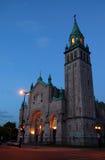 Igreja católica típica em Montreal imagem de stock