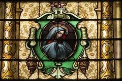Igreja católica Windows manchado imagens de stock
