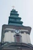 Igreja Católica grega da imagem na cidade pequena Fotos de Stock Royalty Free