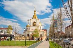 Igreja, cidade de Grozny Imagem de Stock