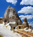 Igreja cinzelada rocha em Urgup/Cappadocia Foto de Stock Royalty Free