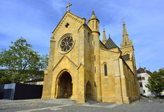 Igreja colegial, Neuchatel switzerland Fotos de Stock