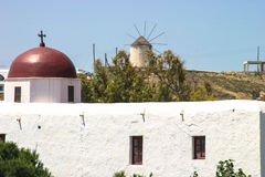 Igreja com telhado vermelho Fotografia de Stock Royalty Free