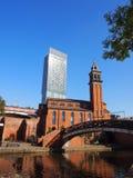 Igreja Congregacional em Castlefield, Manchester Reino Unido imagens de stock royalty free