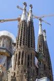 A igreja conhecida de Gaudi Fotografia de Stock Royalty Free