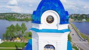 Igreja cristã de avaliação aérea Permanente de Rússia vídeos de arquivo