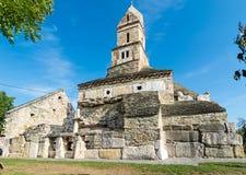 Igreja cristã de Densus, Hunedoara, Romênia Imagem de Stock