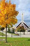 Igreja cristã moderna em Eslováquia na luz do sol Imagem de Stock Royalty Free