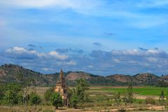 Igreja cristã no meio do nada, Vietname central imagens de stock