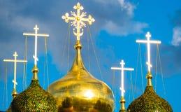 Igreja cristã no sol, Imagens de Stock Royalty Free
