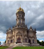 Igreja da igreja abençoada do Virgin do sinal em Dubrovitsy, Podolsk, região de Moscou, Rússia foto de stock