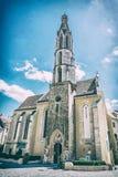 Igreja da cabra em Sopron, Hungria, filtro análogo imagens de stock royalty free