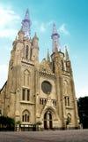 Igreja da catedral de Indonésia Fotos de Stock Royalty Free