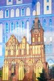Igreja da catedral de Kaliningrad na ilha de Kant Imagem de Stock