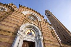 Igreja da cidade de Christ o salvador, Banja Luka fotos de stock royalty free
