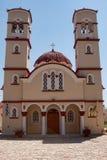 Igreja da cidade em Georgioupolis, Creta, Grécia Fotos de Stock Royalty Free