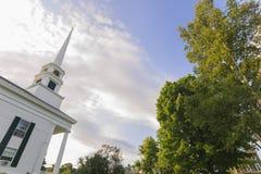 Igreja da comunidade de Stowe no fim do verão. Foto de Stock