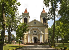 Igreja da concepção imaculada da Virgem Maria em Jozefow poland Fotos de Stock