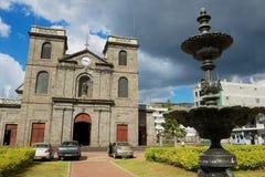 Igreja da concepção imaculada em Port Louis, Maurícias imagens de stock royalty free