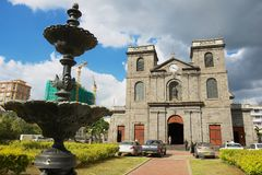 Igreja da concepção imaculada em Port Louis, Maurícias foto de stock