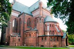 Igreja da concepção imaculada, Pruszkow fotos de stock royalty free