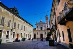 Igreja da confraternidade de San Rocco e de San Carlo de Rivarolo imagens de stock