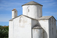 Igreja da cruz santamente, Nin, Croácia Fotografia de Stock