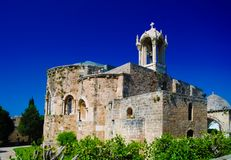 A igreja da Cruzada-era de St John-Mark em Byblos, Líbano fotografia de stock