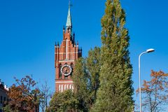 Igreja da família santamente, Kaliningrad foto de stock