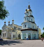 Igreja da intercessão da virgem abençoada em Kharkov, Ucrânia Fotos de Stock Royalty Free