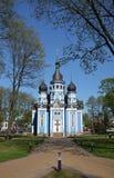 Igreja da mãe do ícone do deus Druskininkai, Lituânia fotografia de stock