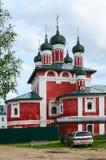Igreja da mãe do ícone do deus Smolensk, monastério do esmagamento, Uglic Foto de Stock