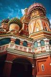 A igreja da manjericão do St em Moscou Fotografia de Stock Royalty Free